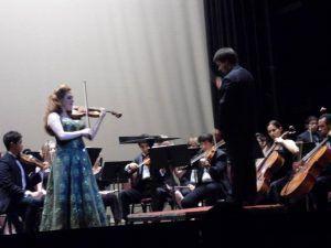 with virtuoso violinis Rachel Barton Pine, 2012