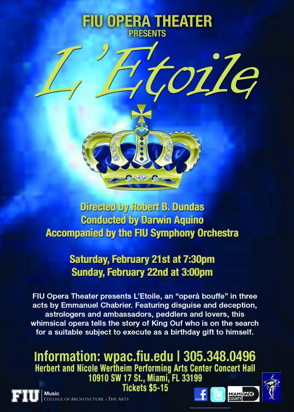 "Darwin receives award for conducting the Opera ""L'Etoile"""