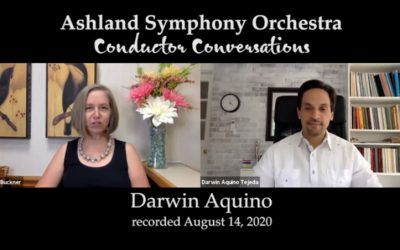 Darwin Aquino's new interview with Martha Buckner, of the Ashland Symphony Orchestra