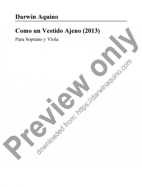 Como un Vestido Ajeno (2014)